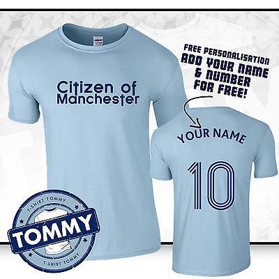 huge discount 7f69f 154d2 Man City Citizen of Manchester T-Shirt, Fan tshirt, man city tshirt   eBay