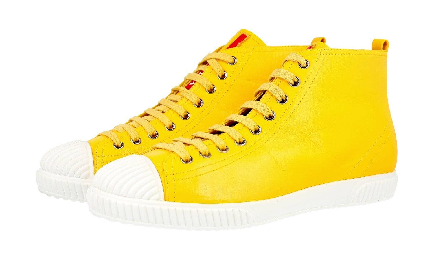 shoes HIGH-TOP SNEAKER PRADA LUXUEUX 3T5877 GIRASOLE NOUVEAUX 40 40,5