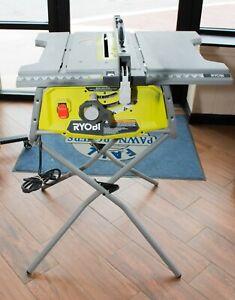 "(MA5) RYOBI 10"" Corded Electric Table Saw w/ Folding Stand ..."