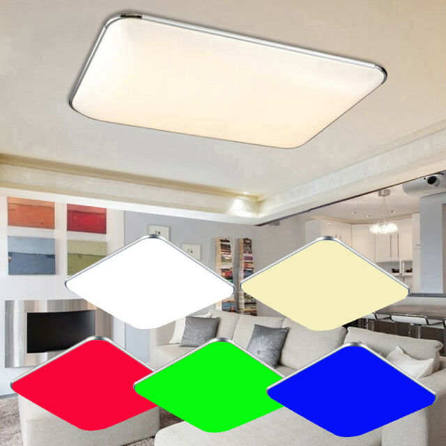 LED Wand Decken Lampen dimmbar Wohn Zimmer RGB Fernbedienung Spots beweglich