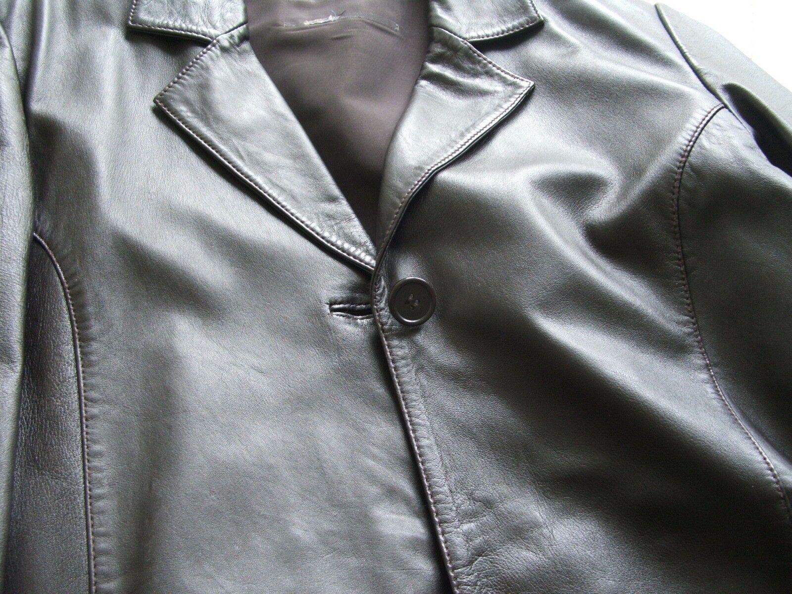 klassischer schwarzer gr 38 lederjacke ledermantel  damen jacken lederjacken c 1_9 #13