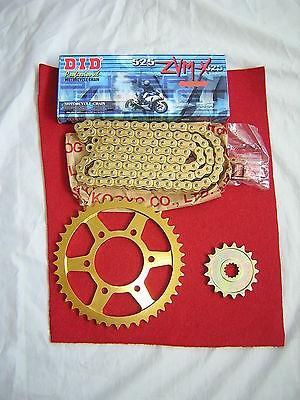 KAWASAKI Z1000 CHAIN AND SPROCKET KIT 07-09 HEAVY DUTY GOLD X-RING