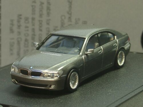 dealer model Herpa BMW 7er E65 LCI grau metallic 521-1:87