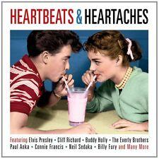 Heartbeats & Heartaches 2-CD NEW SEALED Elvis/Buddy Holly/Paul Anka/Billy Fury+