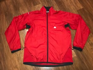 a9dd5d585 Vtg 90s NIKE ACG Mens MEDIUM Red Gray Windrunner windbreaker Track ...