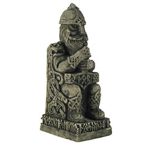 thor statue stone finish dryad design norse god