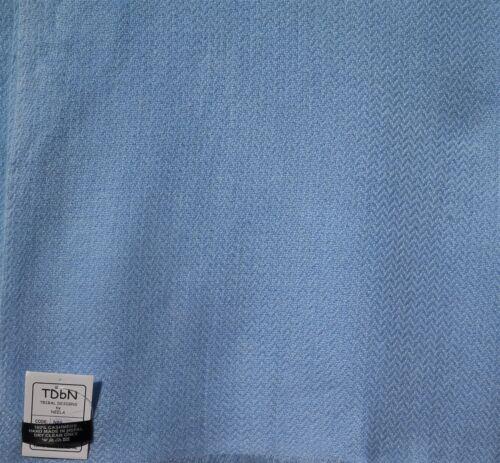 100/% Cashmere Shawl//Wrap 4 Ply Hand Loomed Nepal Mini Herringbone Baby Blue