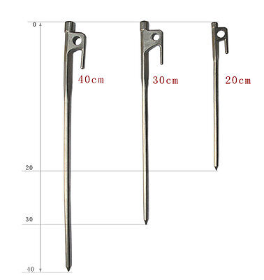 20//30//40cm Heavy Duty Steel Camping Awning Shelter Canopy Tent Stakes Pegs Nail