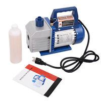 Single Stage 1/3hp 4cfm Rotary Vane Deep Vacuum Pump Hvac Ac Air Tool R134 R410a