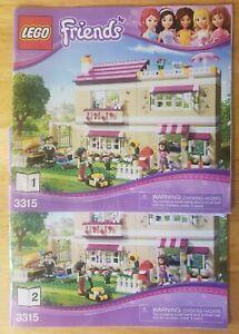 Lego Friends 3315 La Casa De Olivia Sólo Instrucciones Manual Ebay