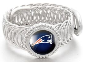 New-England-Patriots-Football-Sterling-Silver-Womens-Mens-Bracelet-GiftP-D11