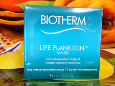 BIOTHERM LIFE PLANKTON Mask Integral Recovery Treatment 75ml Full Siz New in Box