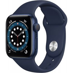 Apple Watch Series 6 Aluminium blau 40mm GPS Bluetooth Fitnessuhr Smartwatch
