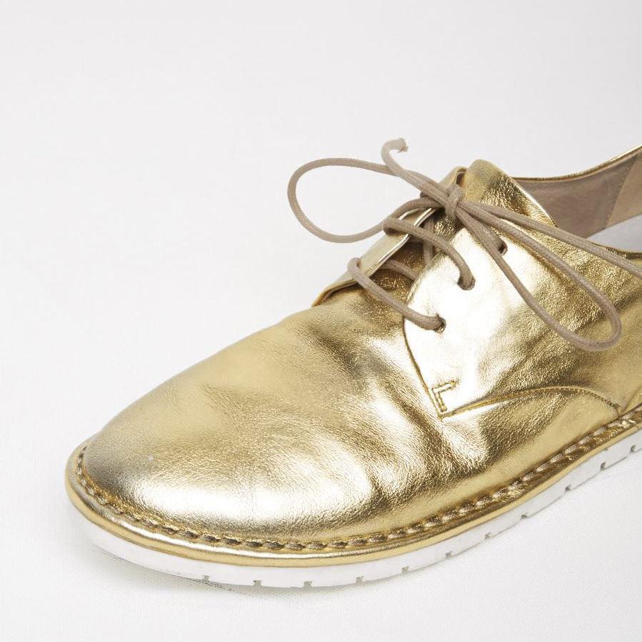 Marsèll Gomma Gomma Gomma Sancrispa Leather Oxfords in gold Size 37 567092