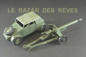 DINKY TOYS GB. KUBELWAGEN VW avec canon antichar.