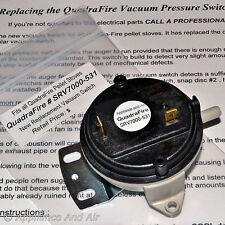 Vacuum switch for all Quadra-Fire Pellet Stoves SRV7000-531 + Instructions