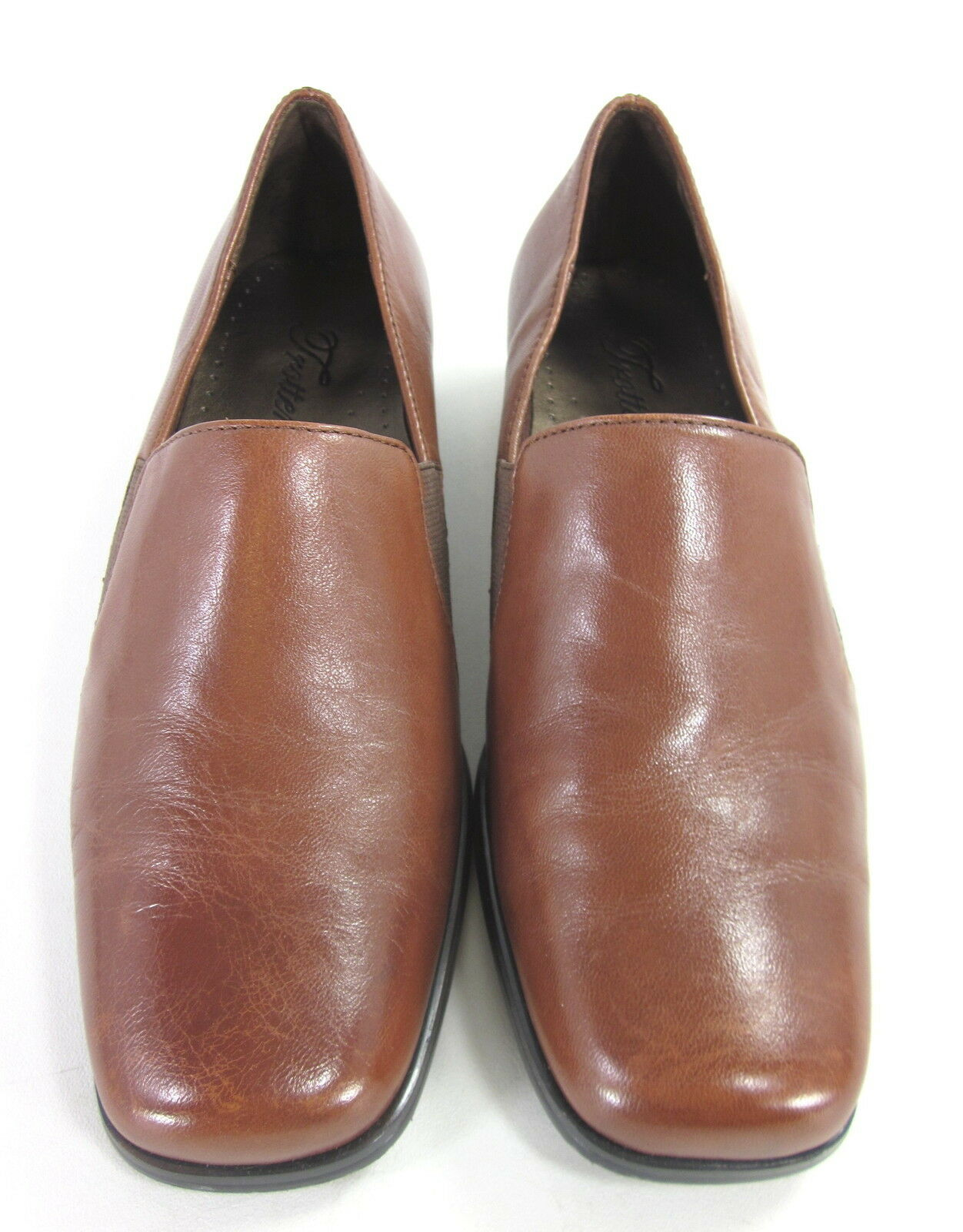 TredTERS WOMEN'S  ASH  CASUAL LOAFERS LOAFERS LOAFERS COGNAC BURNISHED LEATHER US SIZE 6.5 WIDE 55a329