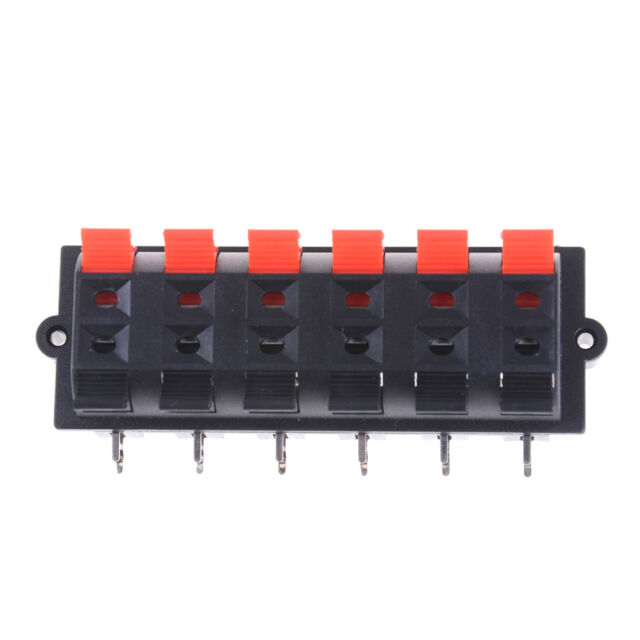 12Way 2Row Push Release Connector Plate Stereo Speaker Terminal Strip Block VGCA