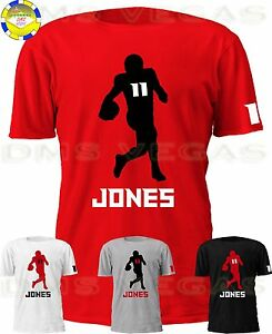 buy online 9c56e 89809 Details about Atlanta Falcons Julio Jones Jersey Tee T Shirt Men Size S-5XL  Shadow