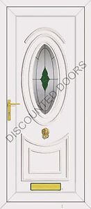 Jefferson One Jersey Glazed UPVC Front Door, Frame & Letterbox
