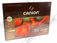 CANSON MI-TEINTES - 160 g/mq - 24x32 cm - BLOCCO 30 FOGLI - 5 COLORI - TERRA