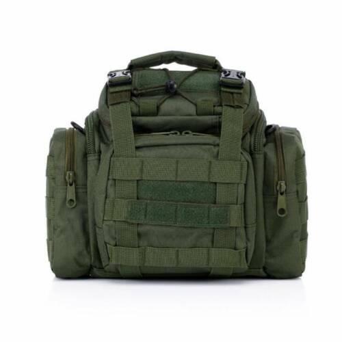 Men Army Fan Tactical Genuine Waist Bag Camera Holder Camera Bag FI