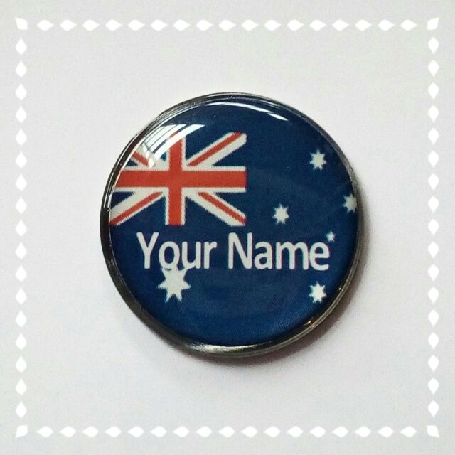 anneys - your OWN PERSONALISED  ** Aussie flag ** golf ball marker!!