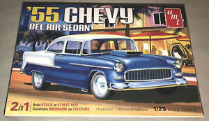 AMT-1955-Chevy-Bel-Air-Sedan-1-25-scale-model-car-kit-new-1119