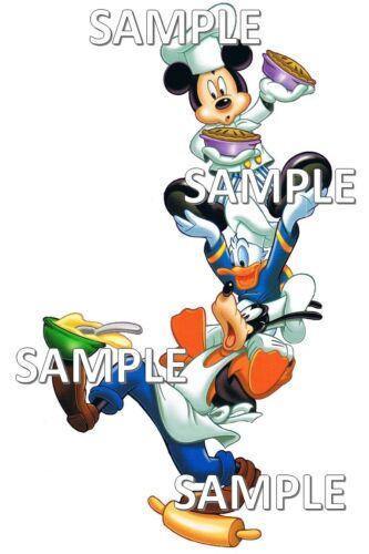 Disney World Chef Mickey/'s Restaurant Mickey Donald Goofy Napkin Scrapbook Piece