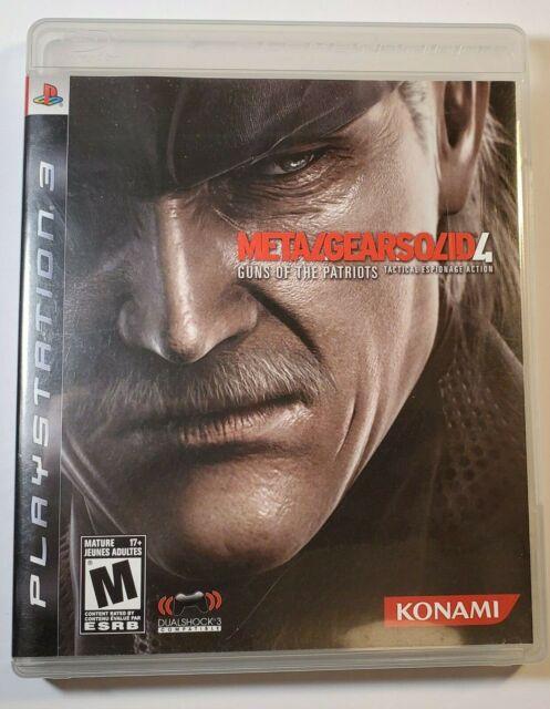 Metal Gear Solid 4: Guns of the Patriots (Sony PlayStation 3, 2008) PS3 cib