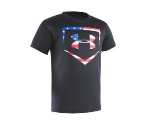 4222553e2a Under Armour Boys Stars and Stripes Graphic-Print T-Shirt Black Size ...