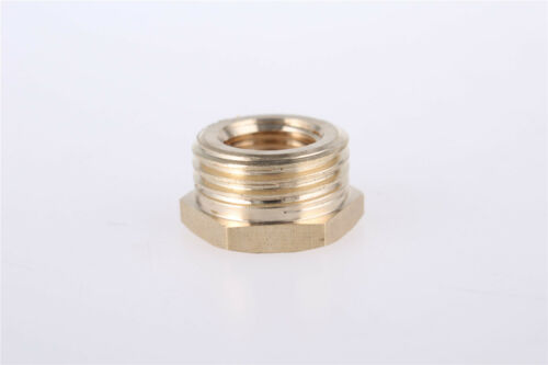 2 Pcs 1//2BSP x 1//4BSP Male to Female Thread Hex Bushing Pipe Adapter