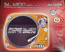 2 DJ Tech SL 1300 Mk6 Usb Ora USB Direct Drive Turntable Twin
