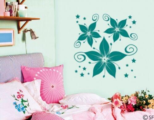 Wall Tattoo Tattoo Floral Flower Star Flower Wall Sticker uss194