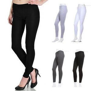PLUS-SIZE-Plain-Solid-COTTON-SPANDEX-Leggings-1XL-2XL-3XL