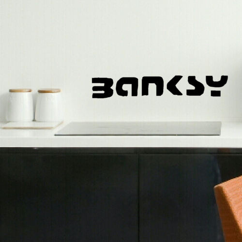 LARGE BANKSY SIGNATURE 100/% CHARITY WALL ART STICKER TRANSFER STENCIL BIG DECAL
