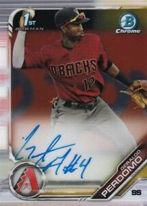 2019-BOWMAN-CHROME-1ST-CARD-AUTOGRAPHS-RC-GERALDO-PERDOMO-DBACKS-AUTO-C3234