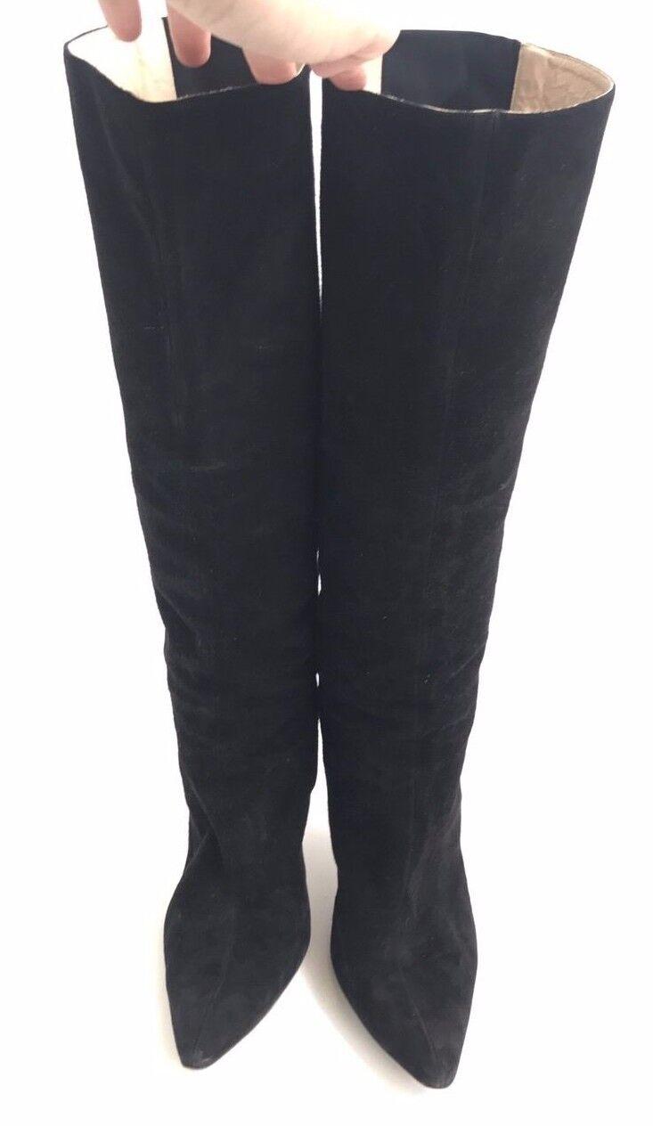 Manolo Blahnik Blahnik Blahnik Size 10.5 40.5 Black Suede Boots 1b7ad9