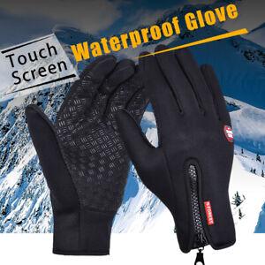 Men Women Winter Warm Windproof Waterproof Gloves Thermal Touch Screen Mitten