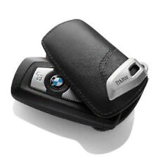 GENUINE  BMW Leather Key Case/Fob;  Black/Black  82292219911