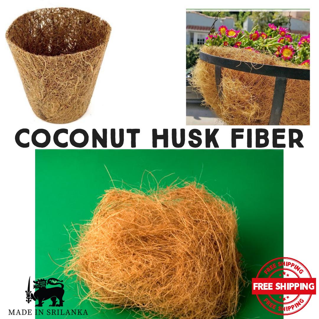 Coconut Husk Fiber 100% Natural High Quality Ceylon Homemade Organic EcoFriendly