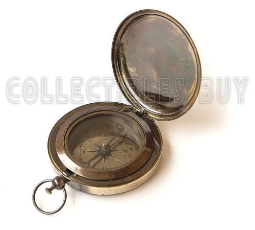 Nautical Ross London Brass Round Pocket Compas Marine Navigational Royal Devic b