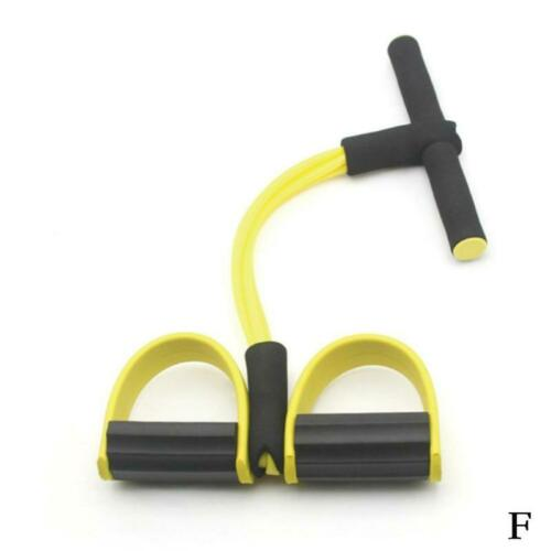 Foot Pedal 4-Tube Pull Rope Resistance Yoga Exercise Sit-up Fitness Equipment