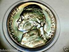 Bu 1960 D Nickel. Toned And Has Steps. Two Full And 2 Partial