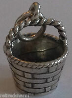 ❤retired James Avery Easter Basket Charm W/ Ja Box Sterling Silver Rare Vintage❤