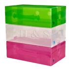 10X Heavy Duty Ladies Stackable Foldable Plastic Shoe Storage Boxes Organiser -A