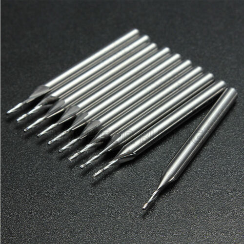 1//2//5x 1.0mm 1mm 2 Flute Carbide Flat Nose End Mills Router Bits Milling Cutters