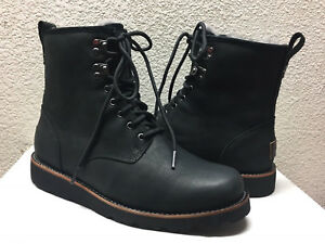 b0985922f88 Details about UGG MEN HANNEN BLACK WATERPROOF LEATHER LACE UP Boot US 11 /  EU 44.5 / UK 10