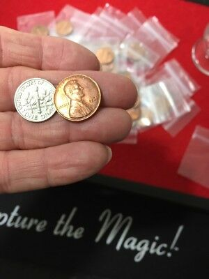 Made From Real Coins Scotch /& Soda Magic Trick using a Dime and Penny