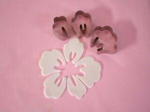 Fleur Hawaienne Decoration En Pate A Sucre Set Emporte Pieces Bien
